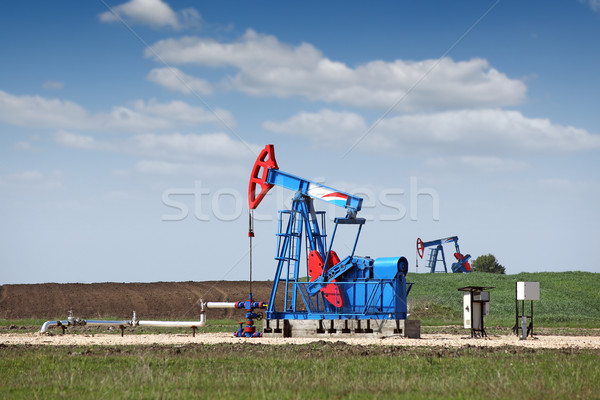 two pump jack oil industry Stock photo © goce