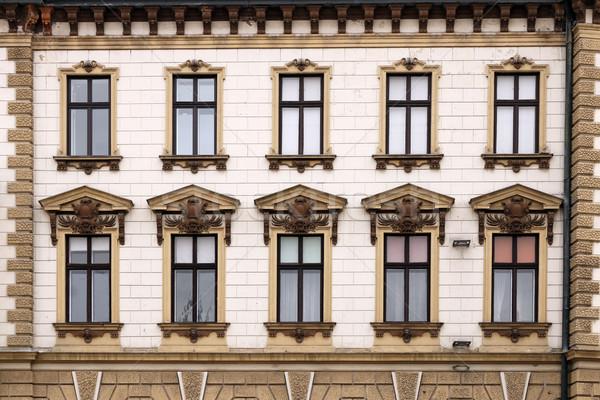 Antigo edifício windows edifício casa janela história Foto stock © goce