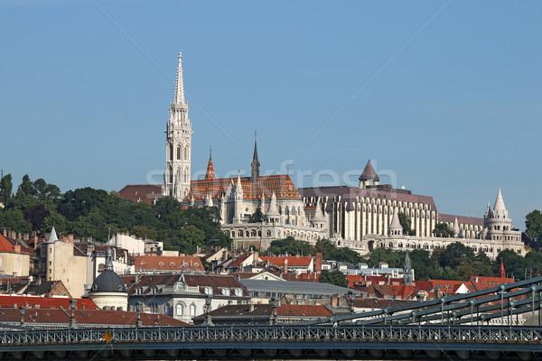 Fisherman bastion and Matthias church Budapest Stock photo © goce