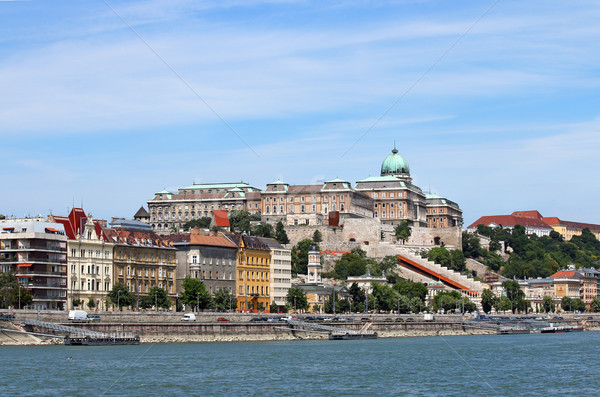 Royal castle on Danube River Budapest Stock photo © goce