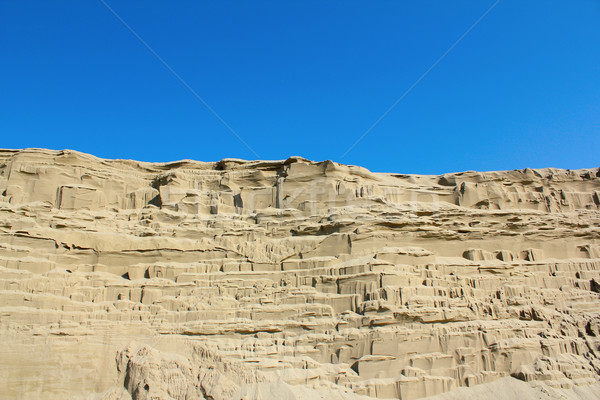 desert sand dune wind erosion Stock photo © goce