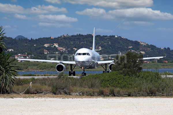 plane at the airport Corfu Greece Stock photo © goce