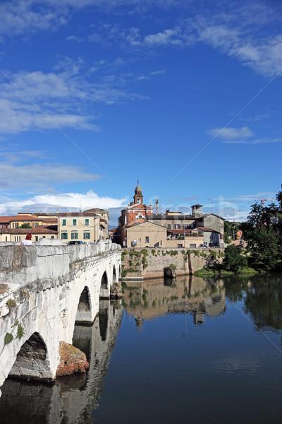 старый город моста Италия небе здании город Сток-фото © goce
