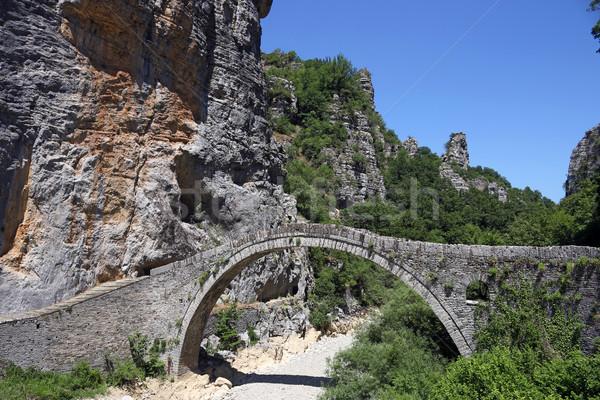 Pierre pont paysage Grèce nature montagne Photo stock © goce