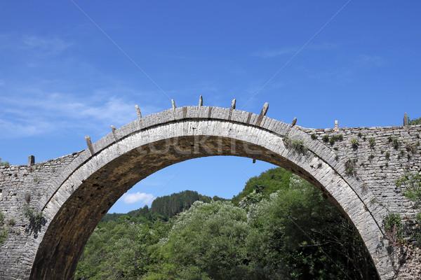 石 橋 ギリシャ 水 森林 自然 ストックフォト © goce
