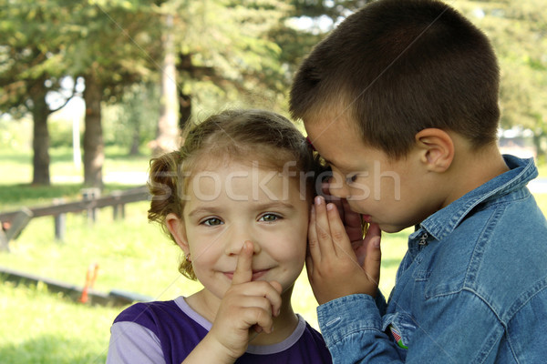 children little secret Stock photo © goce
