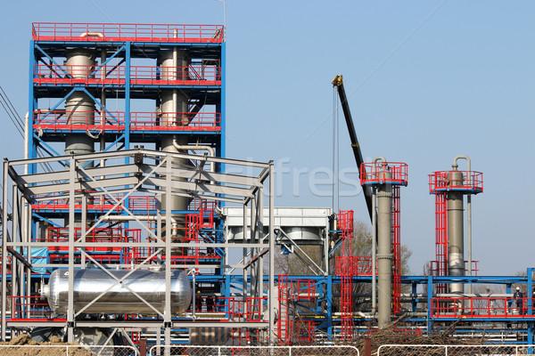 Raffinaderij bouwplaats olie-industrie fabriek olie plant Stockfoto © goce
