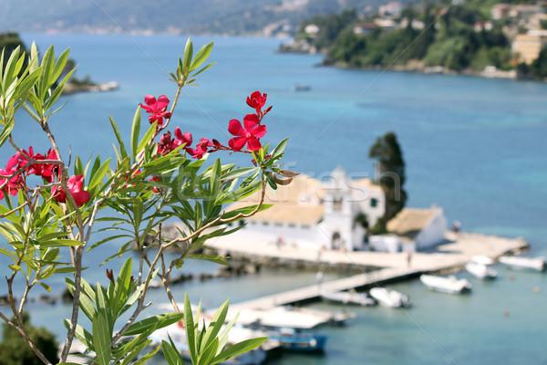 Monasterio isla Grecia verano temporada agua Foto stock © goce