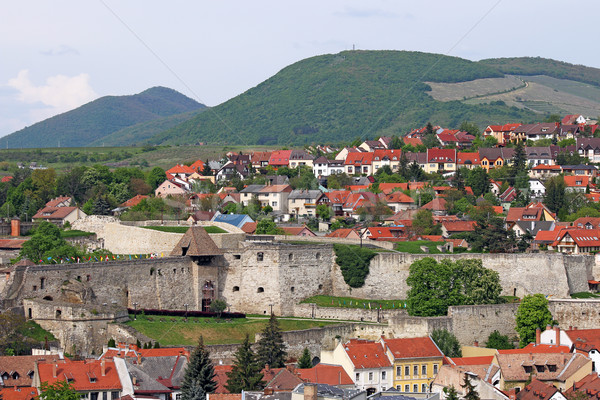 old fortress Eger cityscape  Stock photo © goce