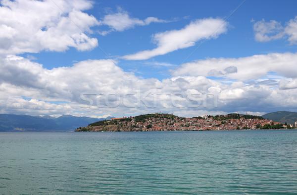 город озеро пейзаж Македонии лет сезон Сток-фото © goce