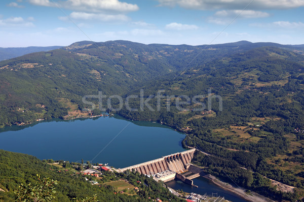 hydroelectric power plant on river landscape Stock photo © goce
