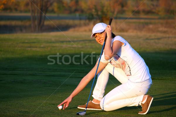 Сток-фото: девушки · выстрел · женщину · гольф · области