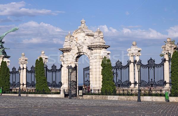stone gate and fence Buda royal castle Budapest Stock photo © goce