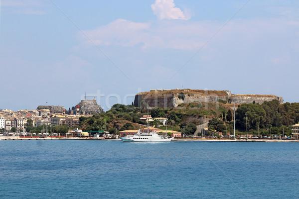 Edad nuevos fortaleza ciudad Grecia agua Foto stock © goce
