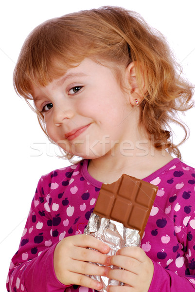 little girl with chocolate Stock photo © goce