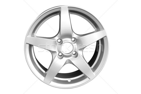 Foto stock: Plata · aluminio · rueda · aislado