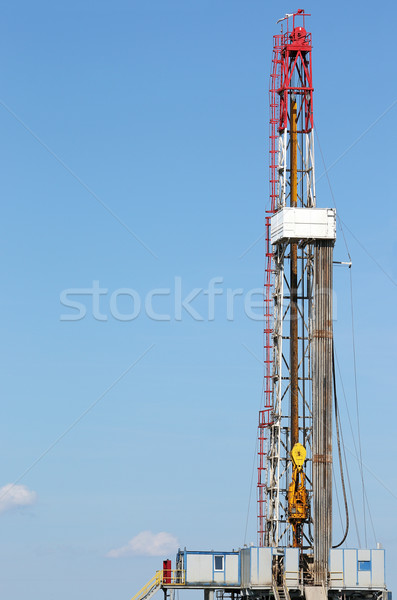 land oil drilling rig mining industry Stock photo © goce