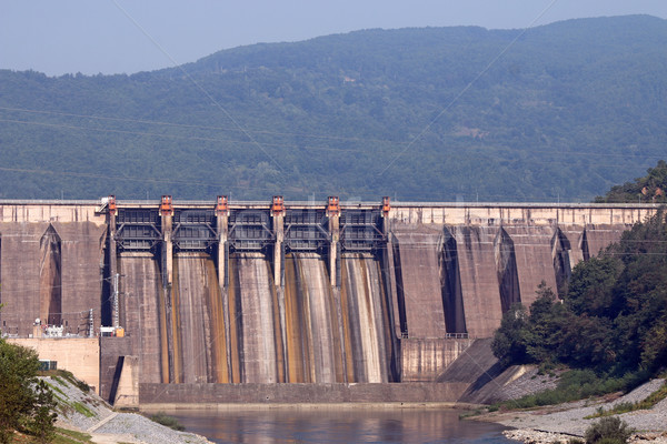 hydroelectric power plants on river Stock photo © goce