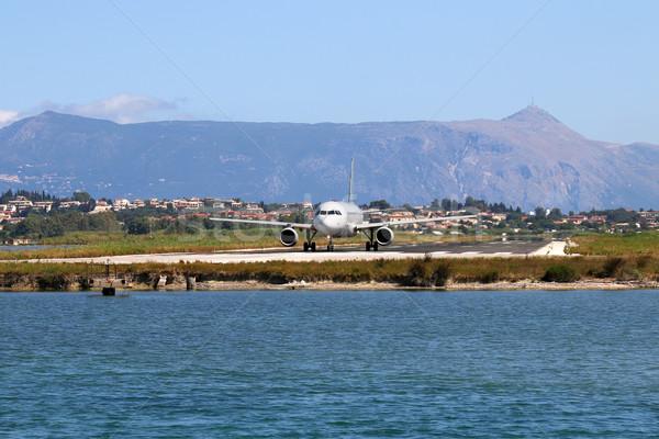 самолет аэропорту острове Греция лет путешествия Сток-фото © goce