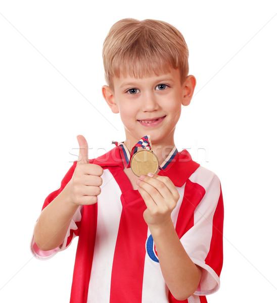 少年 金メダル 勝者 子 子供 金 ストックフォト © goce