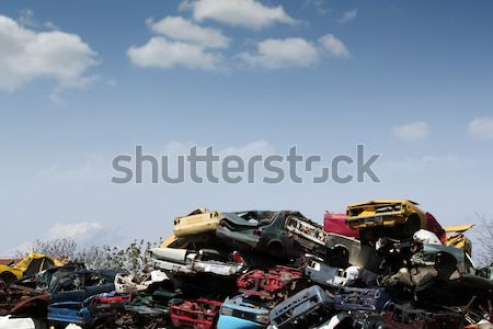 junk yard with old cars Stock photo © goce