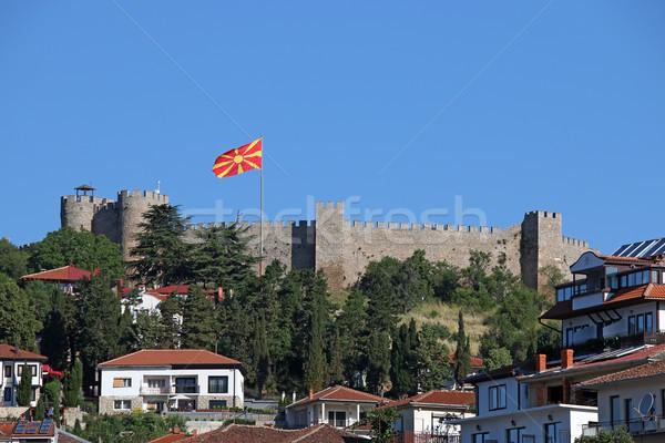 крепость здании лет путешествия флаг замок Сток-фото © goce