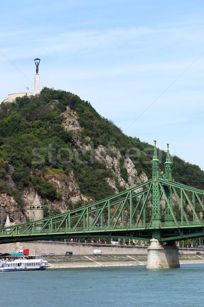 Liberty bridge and monument on hill Budapest Hungary Stock photo © goce