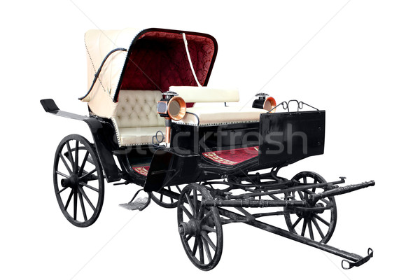 old carriage isolated on white  Stock photo © goce