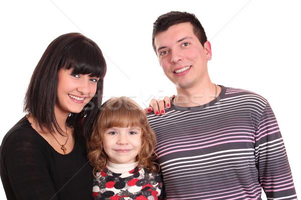 Stock fotó: Családi · portré · nő · család · mosoly · szeretet · boldog