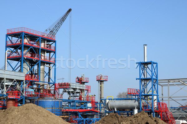 heavy industry new plant construction site Stock photo © goce