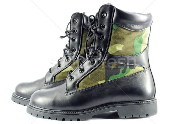 Katonaság harc csizma cipő védelem csizma Stock fotó © goce