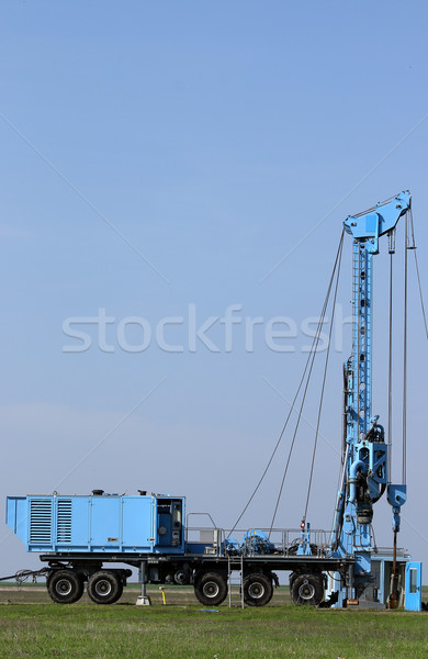 geology and oil exploration mobile drilling rig vehicle Stock photo © goce
