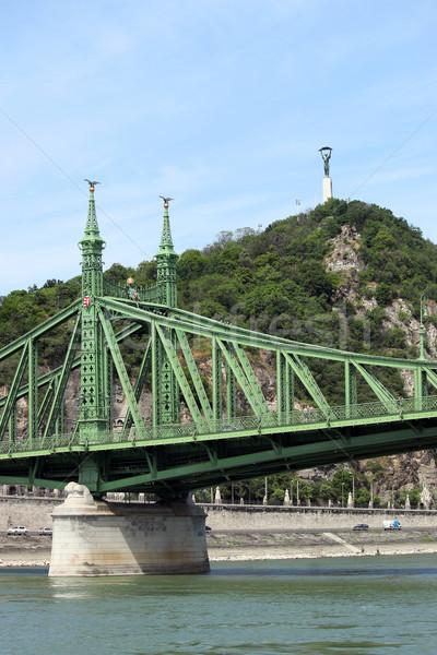 Liberty bridge and Gellert hill Budapest Stock photo © goce