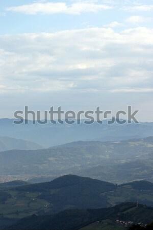 Montana paisaje oeste Serbia forestales luz Foto stock © goce