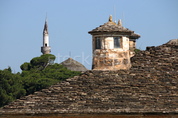 Moschea vecchio pietra tetto Grecia costruzione Foto d'archivio © goce