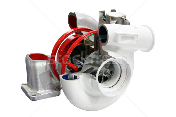 Stock photo: car turbo charger isolated on white