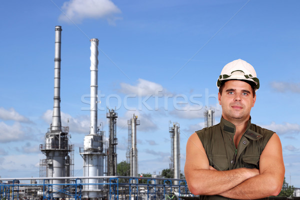 worker and petrochemical plant oil industry Stock photo © goce