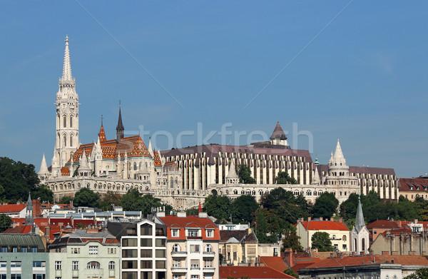 Fisherman towers and Matthias church Budapest Hungary Stock photo © goce