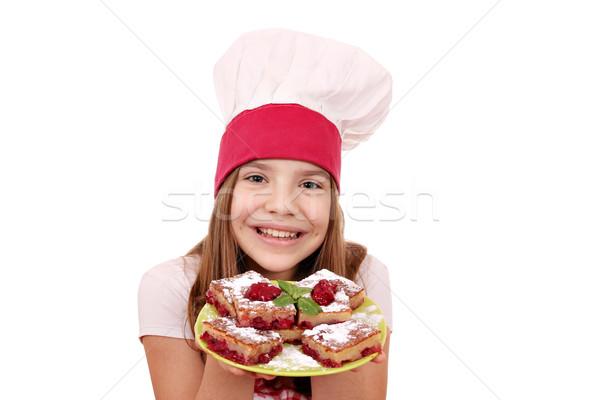 Zdjęcia stock: Szczęśliwy · dziewczynka · gotować · domowej · roboty · ciasto · dziewczyna