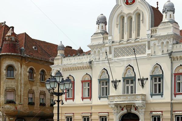 beautiful old buildings detail Union squere Timisoara Romania Stock photo © goce