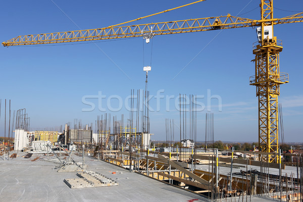 crane on construction site industry Stock photo © goce