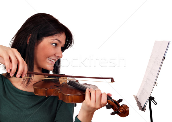 beautiful girl violinist Stock photo © goce