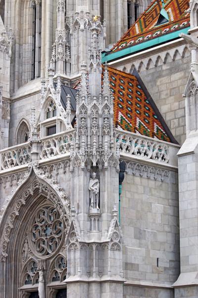 Kerk muur detail Boedapest stad kasteel Stockfoto © goce