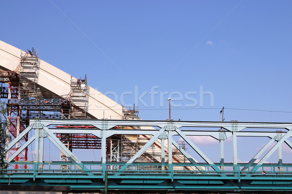 new bridge construction site industry Stock photo © goce
