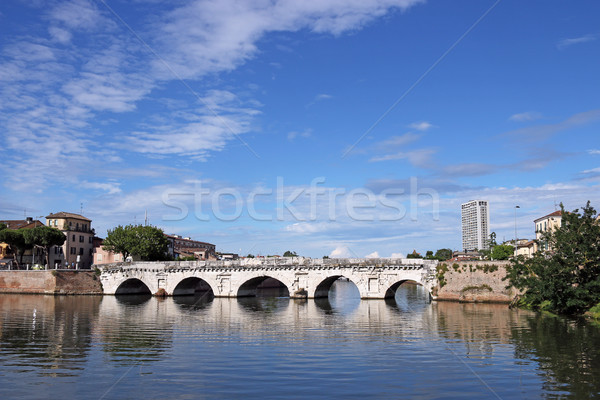 Tiberius bridge landmark Rimini Italy Stock photo © goce