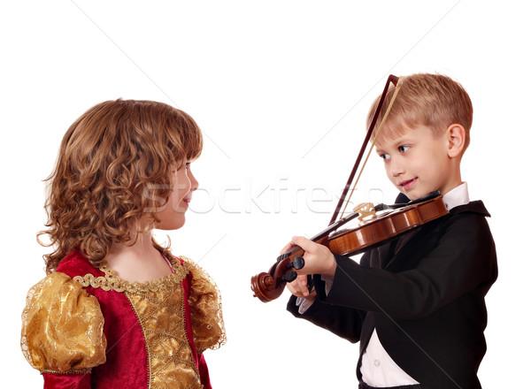 Stockfoto: Jongen · meisje · romantiek · liefde · kind · schoonheid