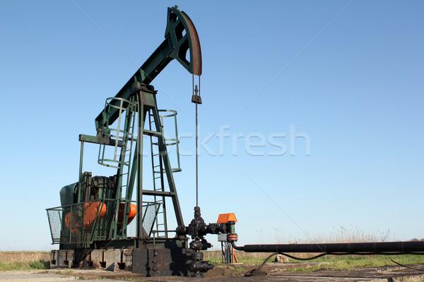 Przemysł naftowy dziedzinie oleju moc maszyny Zdjęcia stock © goce