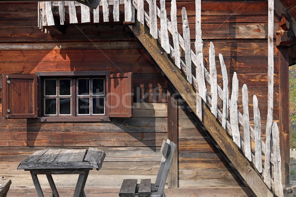 old wooden cabin log detail Stock photo © goce