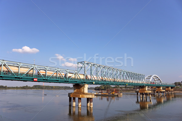 train with tank wagon on bridge Stock photo © goce