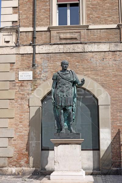 Cézár szobor Olaszország férfi katona történelem Stock fotó © goce